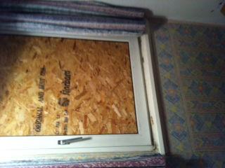 Broken window boarded Newcastle