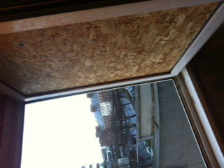 Window boarding in Wallsend
