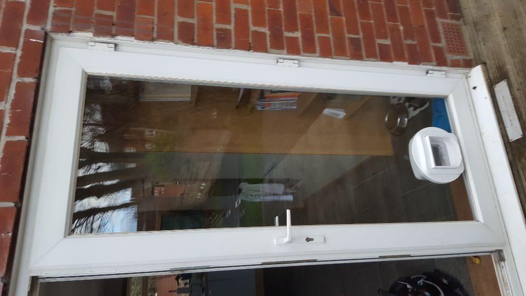 cat flap installed glass Wallsend