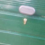Garage door lock repaired