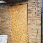 Door board up Newcastle
